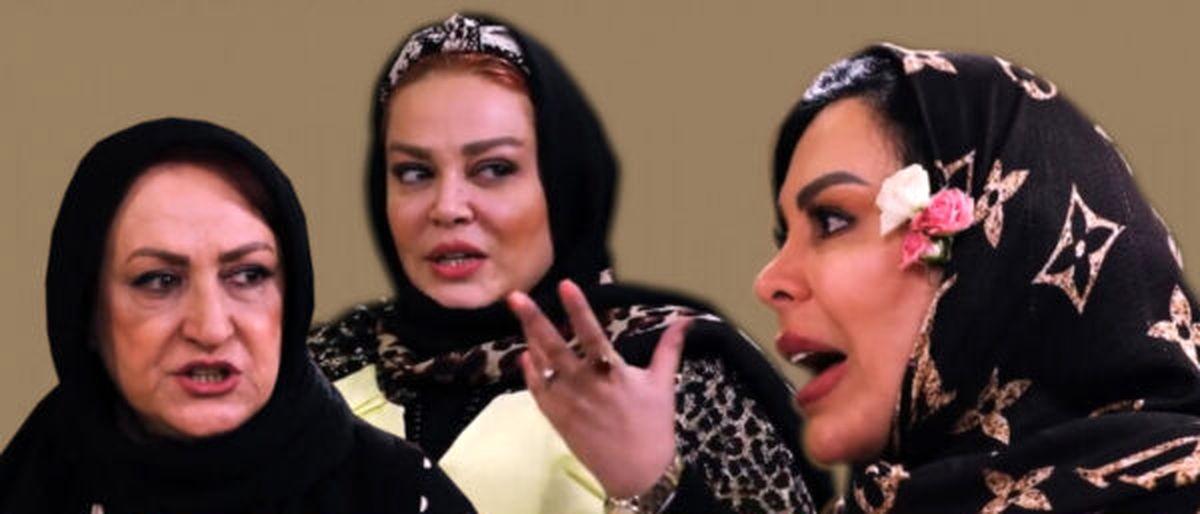 فیلم  دعوای عجیب فلور نظری و مریم امیرجلالی وسط برنامه شام ایرانی!