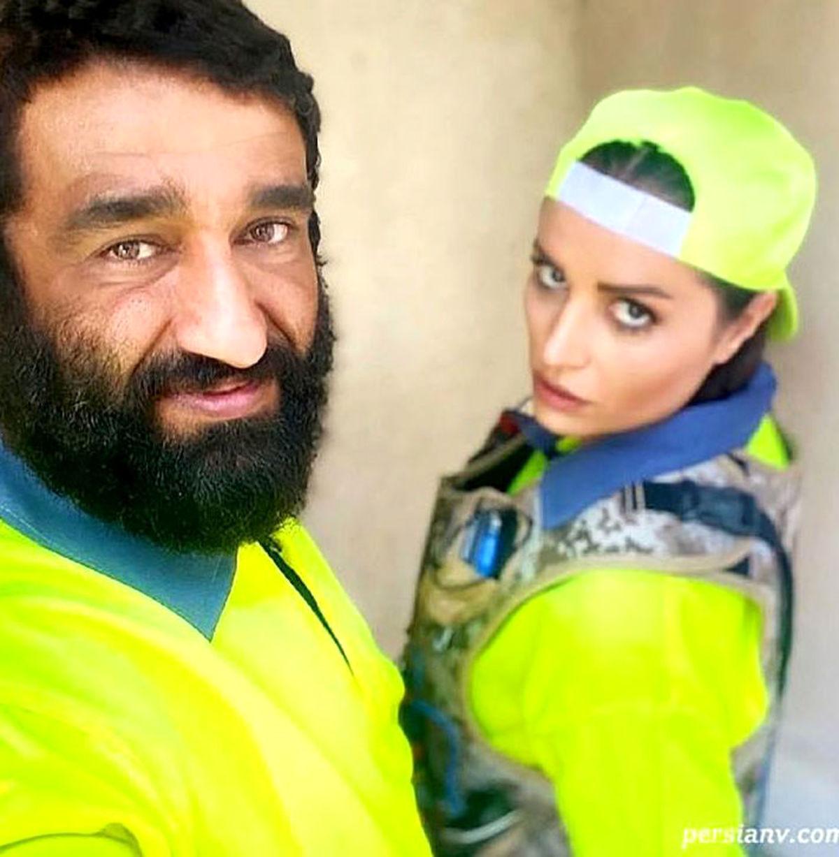 پژمان جمشیدی و بازیگر زن ترکیهای + عکس