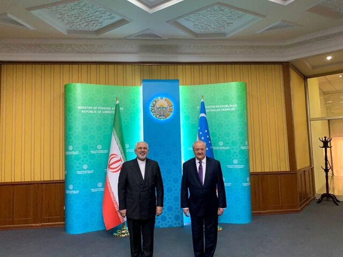 دیدار و گفتگوی ظریف با همتای ازبکستانی در تاشکند