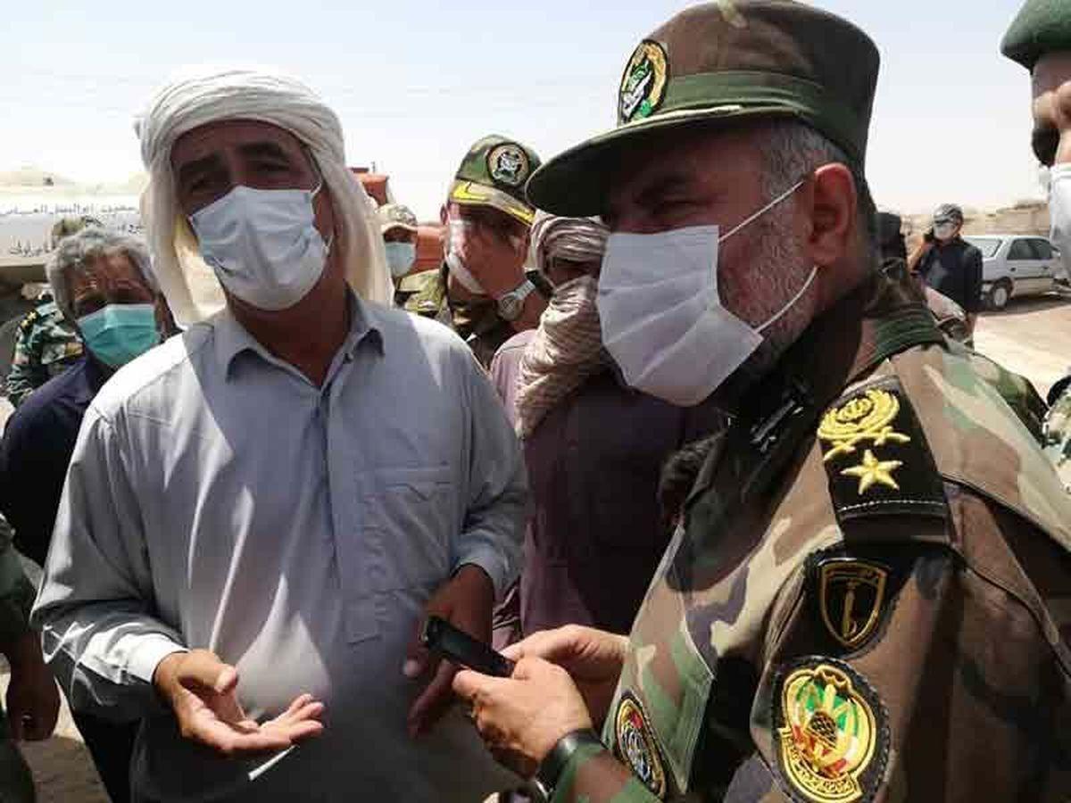 فرمانده نزاجا: تا زمان حل مشکلات مردم در سیستان و بلوچستان میمانیم