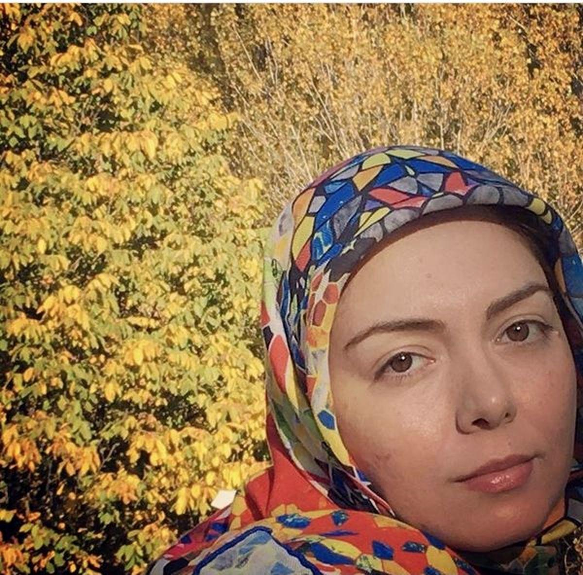 آزاده نامداری در یک روز پاییزی +تصاویر دیده نشده