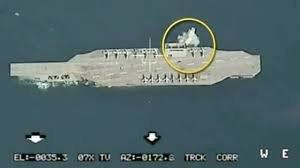چرا ماکت ناو هواپیمابر آمریکا در رزمایش سپاه غرق نشد؟
