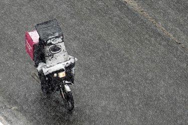 برف زمستانی در تهران