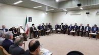 گزارش تصویری/ دیدار روحانی و اعضای هیأت دولت با رهبر انقلاب