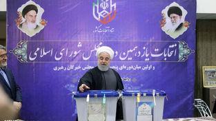 تصاویر رای دادن رئیس جمهور و معاون اول در شعبه وزارت کشور