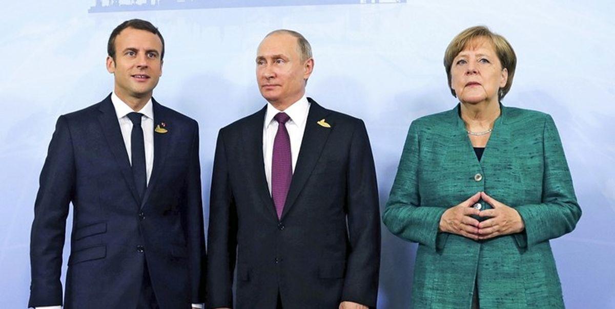 توافق سران فرانسه، آلمان و روسیه درباره ایران