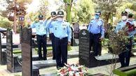 فرمانده نیروی هوایی ارتش به مقام شامخ شهدای خبرنگار ادای احترام کرد