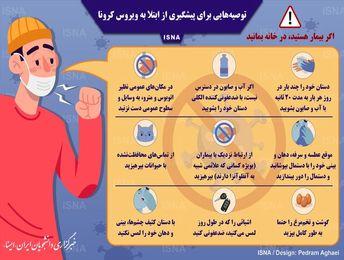 هشدار و توصیه برای پیشگیری از ابتلا به ویروس کرونا