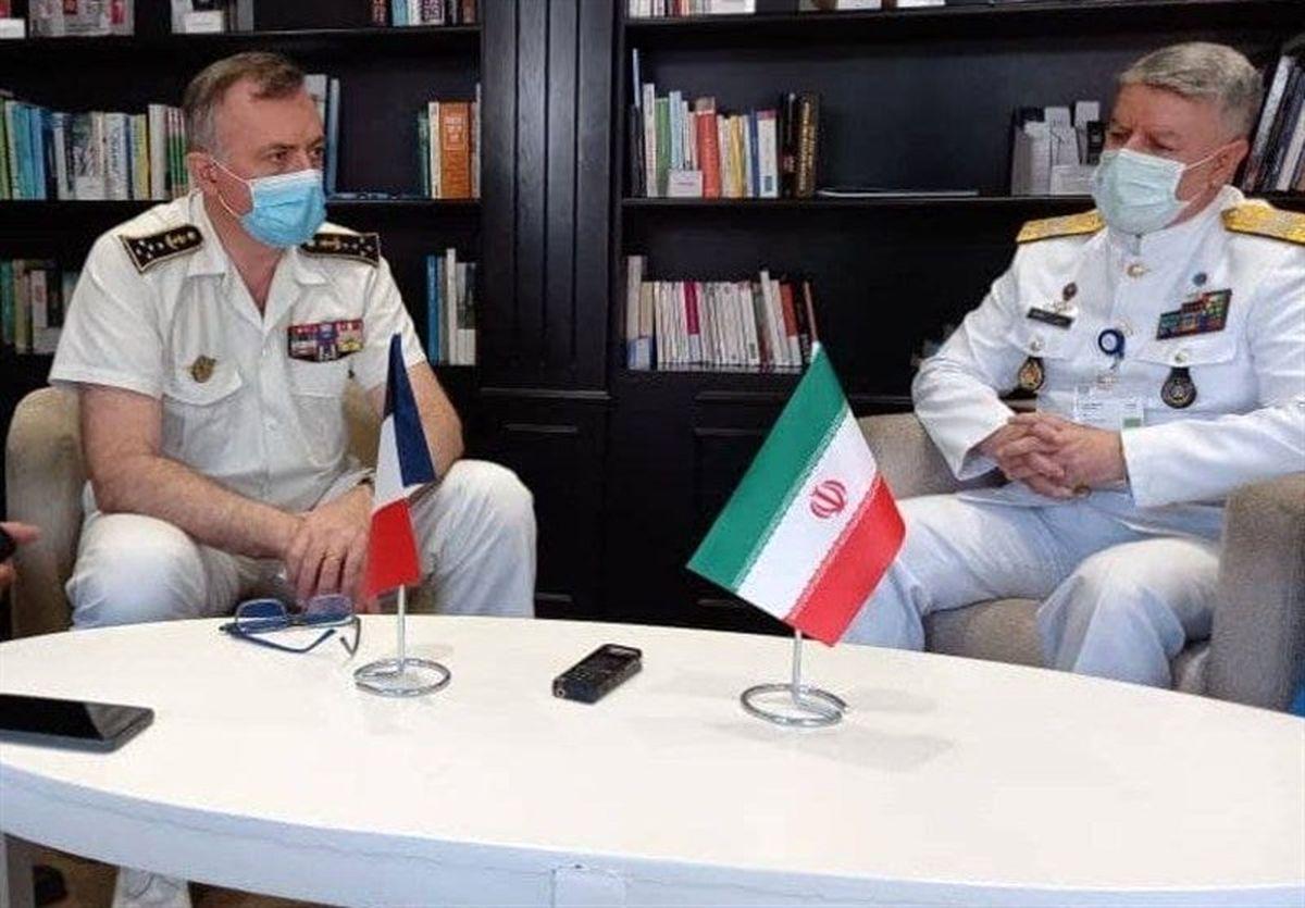 جزئیات دیدار فرمانده نیروی دریایی ارتش با همتای فرانسوی