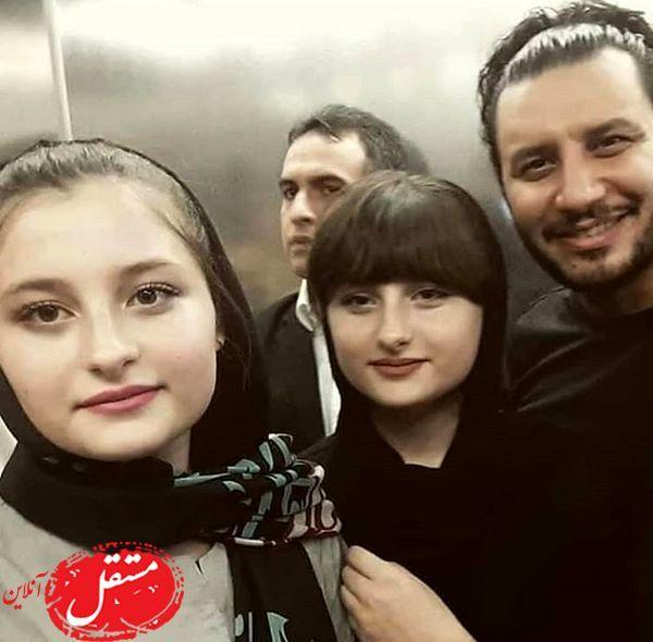 سارا و نیکای پایتخت در کنار جواد عزتی + عکس