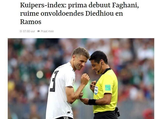 تمجید روزنامه هلندی از قضاوت داور ایرانی