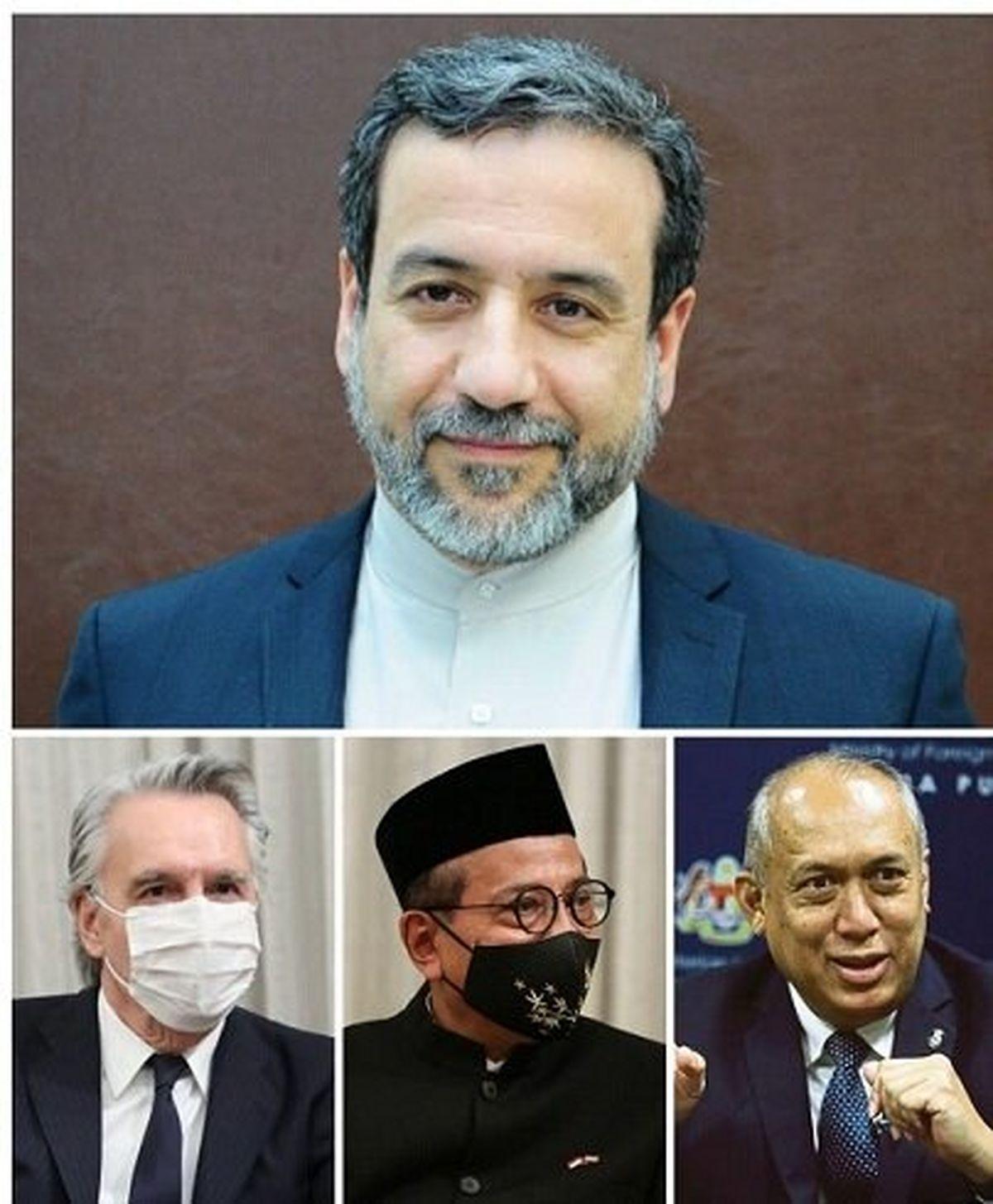 دیدار سفرای اسپانیا، اندونزی و مالزی با عراقچی