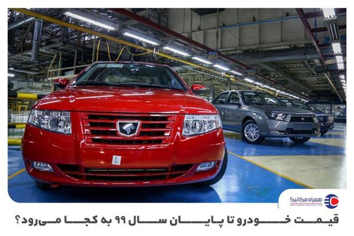 پیشبینی سراشیبی سقوط قیمت خودرو در زمستان 99 + جدول