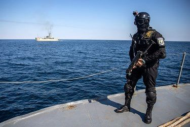 گزارش تصویری/ رزمایش دریایی ایران و روسیه و چین