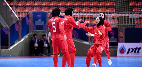 ایران 5 - ویتان صفر/ جام قهرمانی آسیا در یک قدمی دختران فوتسال ایران