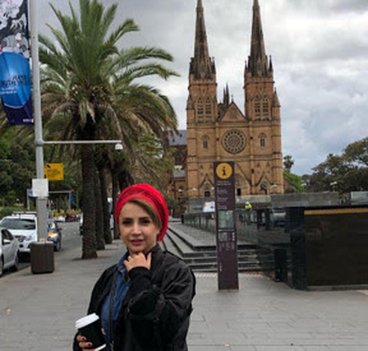 عکس دیده نشده از شبنم قلی خانی در خارج از کشور +تصاویر