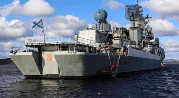 حرکت ناو موشکانداز روسیه به سمت ساحل سوریه