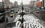 گزارش تصویری؛ برف زیبای زمستانی در تهران