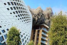 یک آتشسوزی شدید دیگر در بیروت لبنان فیلم