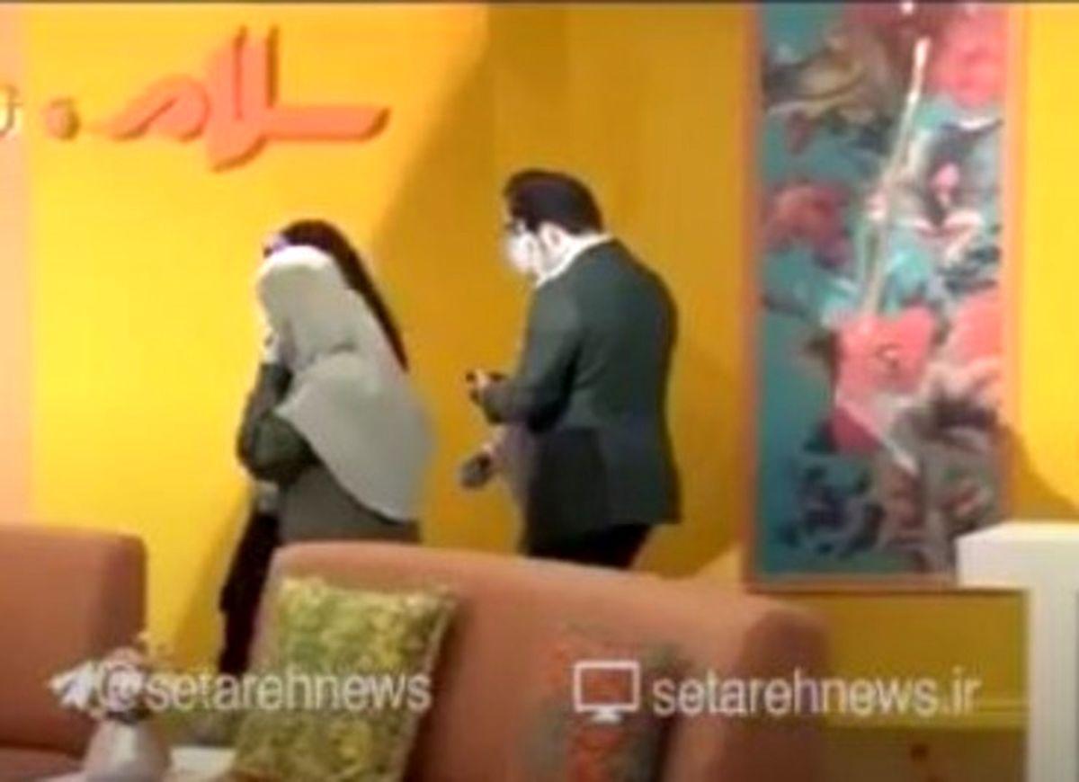 رفتار زشت مجری تلویزیون روی آنتن زنده! +فیلم