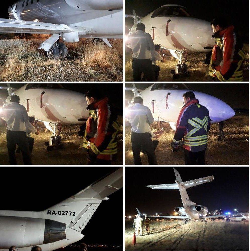 گزارش تصویری/ حادثه هوایی جت روسی در فرودگاه مهرآباد