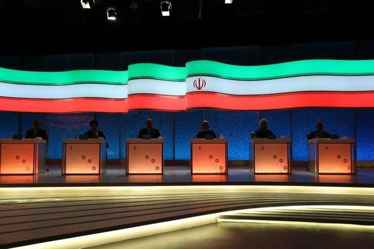 میزها در انتظار مناظره نامزدها