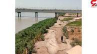 مردی که خودش را از دست زنش به رودخانه انداخت + عکس