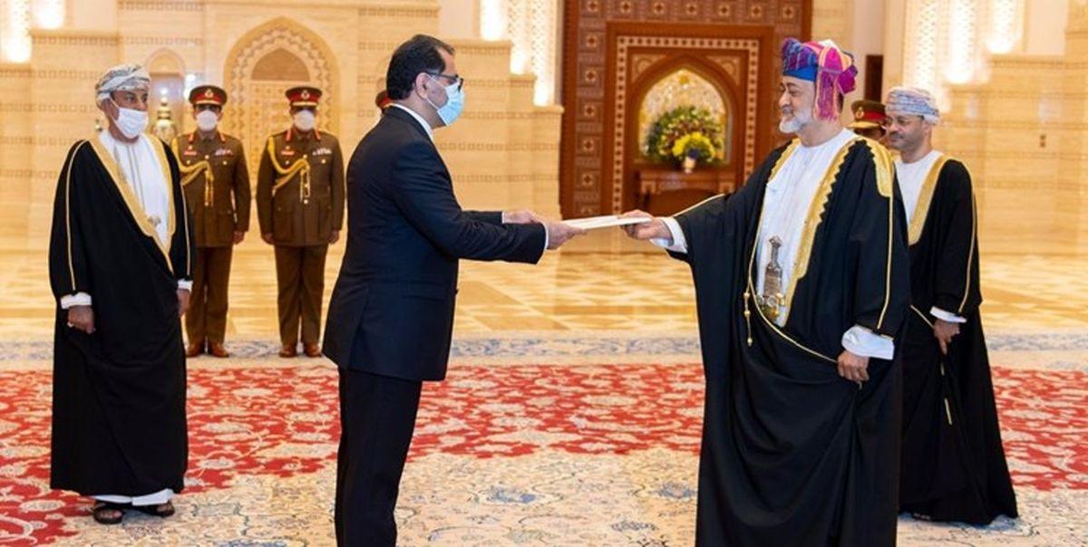 سفیر ایران استوارنامه خود را تقدیم سلطان عمان کرد
