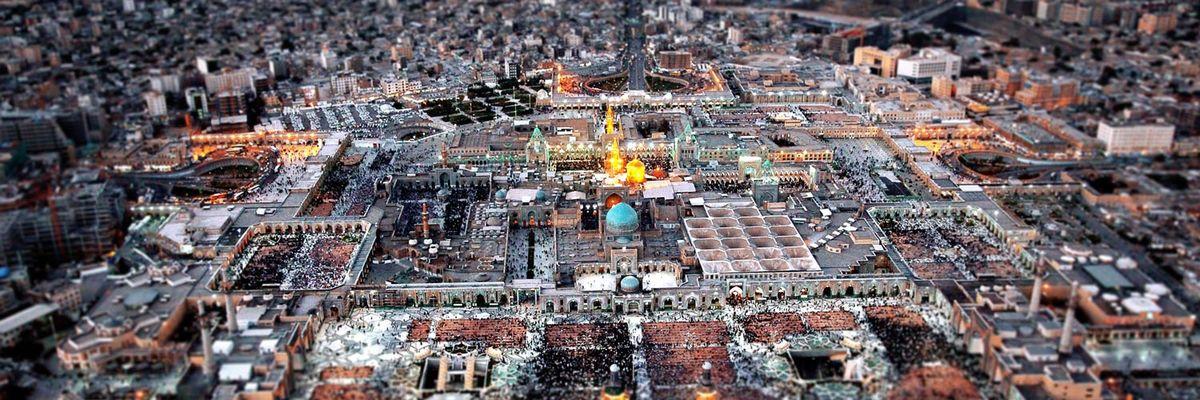 ضریح امام رضا (ع) بعد از بازسازی و نورپردازی جدید