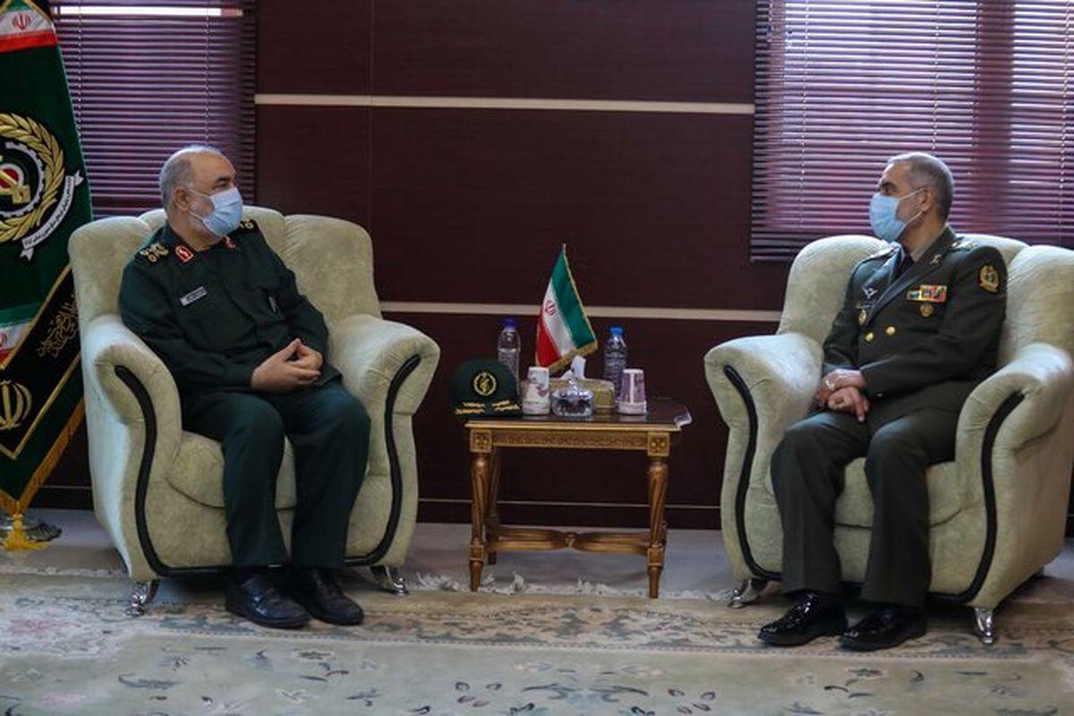 جزئیات دیدار فرمانده کل سپاه با وزیر جدید دفاع