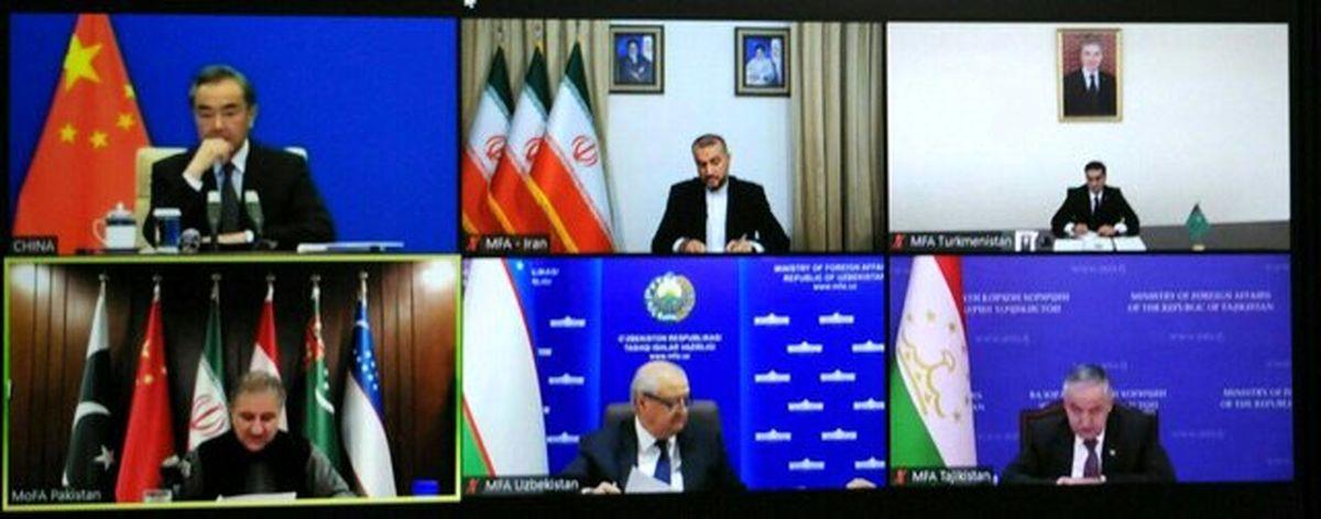 برگزاری نشست مجازی وزرای امور خارجه ۶ کشور همسایه افغانستان