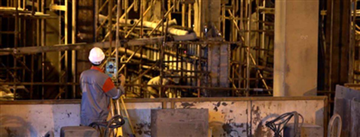بازسازی، ترمیم، مقاومسازی و آببندی دیوارههای بتنی ماشین 5 ریختهگری فولاد مبارکه