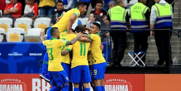 Image result for برزیل قهرمان کوپا امریکا 2019