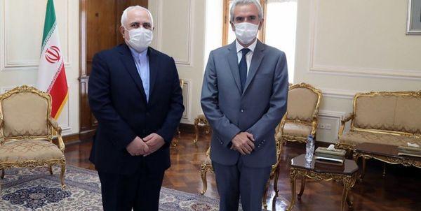 خداحافظی سفیر اسپانیا با ظریف+عکس