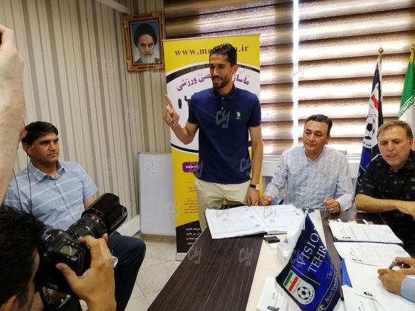 تصاویر تمدید و ثبت قرارداد حسینی و کریمی با استقلال