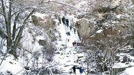 یخ زدن آبشار گنجنامه همدان