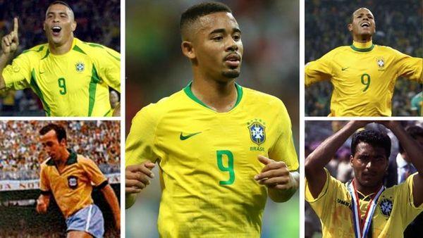 """سقوط شماره """"۹""""های برزیل در جامهای جهانی"""