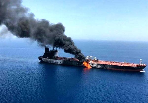 تکذیب غرق شدن نفتکشهای حادثه دیده در دریای عمان/ آتشسوزی یکی از شناورها خاموش شد