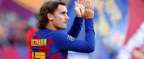 تشویق پرشور گریزمان از سوی هواداران بارسلونا