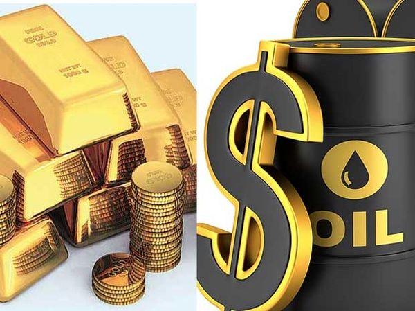 افزایش قیمت نفت و کاهش قیمت طلا در بازارهای جهانی