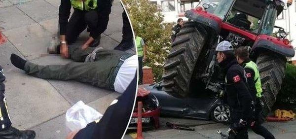 حمله کشاورز به سفارت اسرائیل در آنکارا با تراکتور