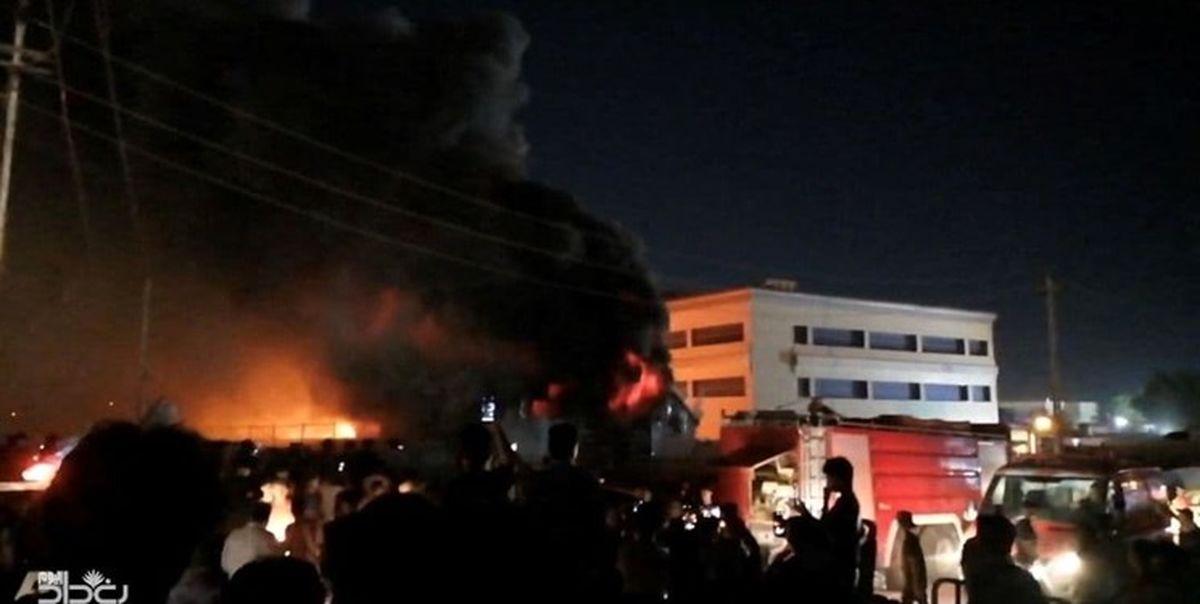 فوری؛ آتشسوزی در بیمارستان کرونایی عراق 75 نفر را به کشتن داد