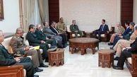 دیدار امیر سرتیپ امیر حاتمی وزیر دفاع با بشار اسد در سوریه (عکس)