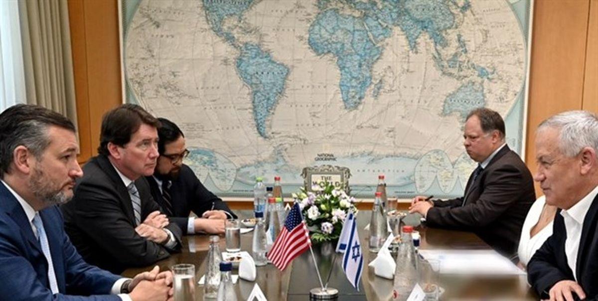 رایزنی وزیر جنگ صهیونیستها با سناتورهای آمریکایی درباره ایران