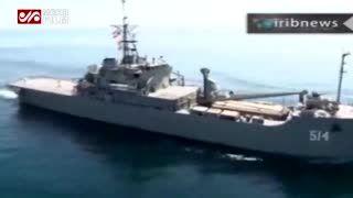 فیلم/ نجات نفتکش ایرانی ازحمله دزدان توسط ناو گروه ارتش