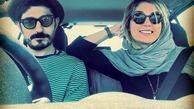 سلفی ماشینی زوج بازیگر